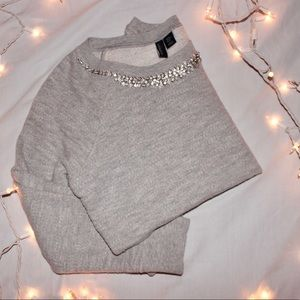 Authentic Cynthia Rowley Grey embellished Sweater